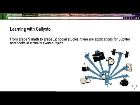Demonstration of the Callysto notebook for the classroom