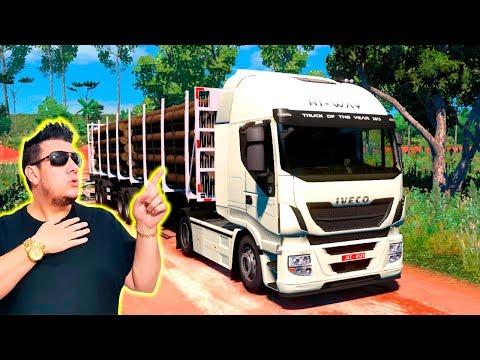 DIRIGI UM CAMINHÃO NA ESTRADA MAIS PERIGOSA DO BRASIL  Euro Truck 2 Mapa RBR