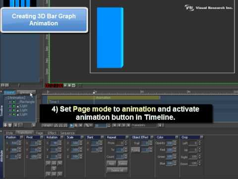 VisualCG 3D [Chapter09] Use of Animation Ex 3 3D Bar Graph Animation