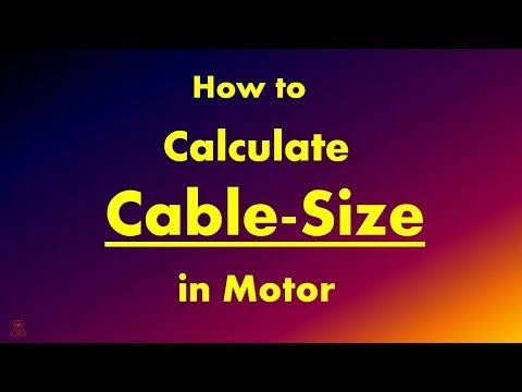 How To Calculate Cable Size || Cable Calculation Formula With Example