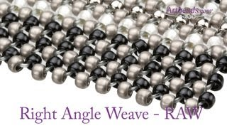 Artbeads Mini Tutorial - Right Angle Weave with Leslie Rogalski