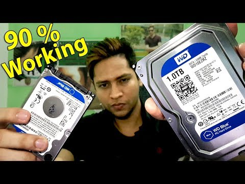 How to fix corrupted not responding dead hard disk 100% working