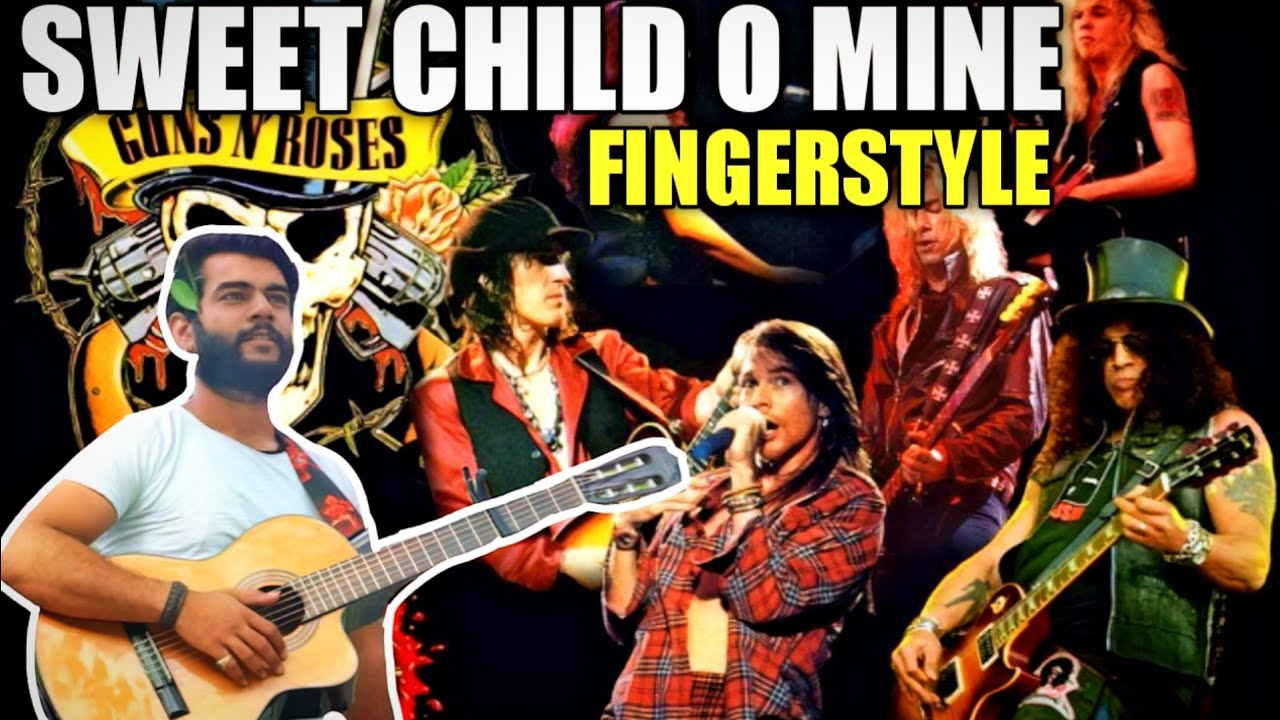 Sweet Child O' Mine Fingerstyle Guitar Cover - Guns N' Roses Arranged By LickNRiffs