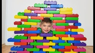 Kids Playing with Toy Blocks