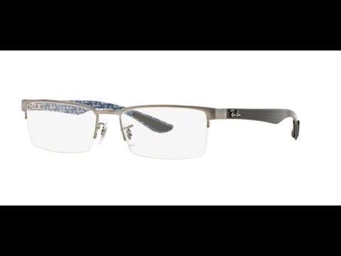 6c28310464 Ray Ban RX8412 Eyeglasses 2502 GUNMETAL - YouTube