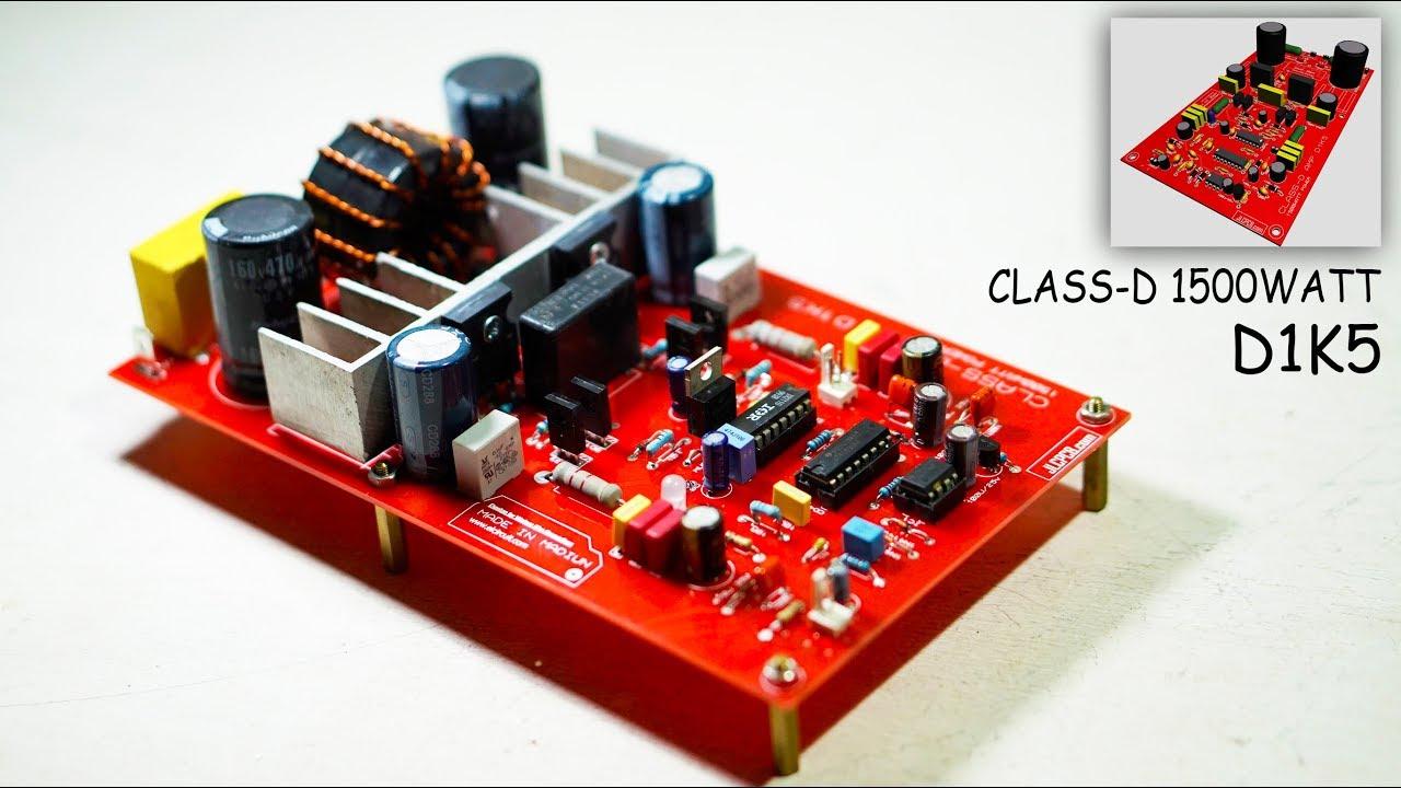 test power class d d1k5 amplifier jlcpcb youtube. Black Bedroom Furniture Sets. Home Design Ideas