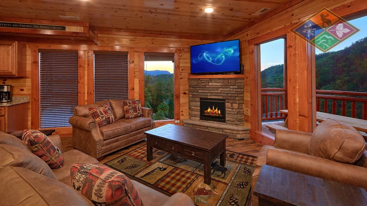 Splash Mountain Lodge Gatlinburg Cabin With Indoor Pool Youtube