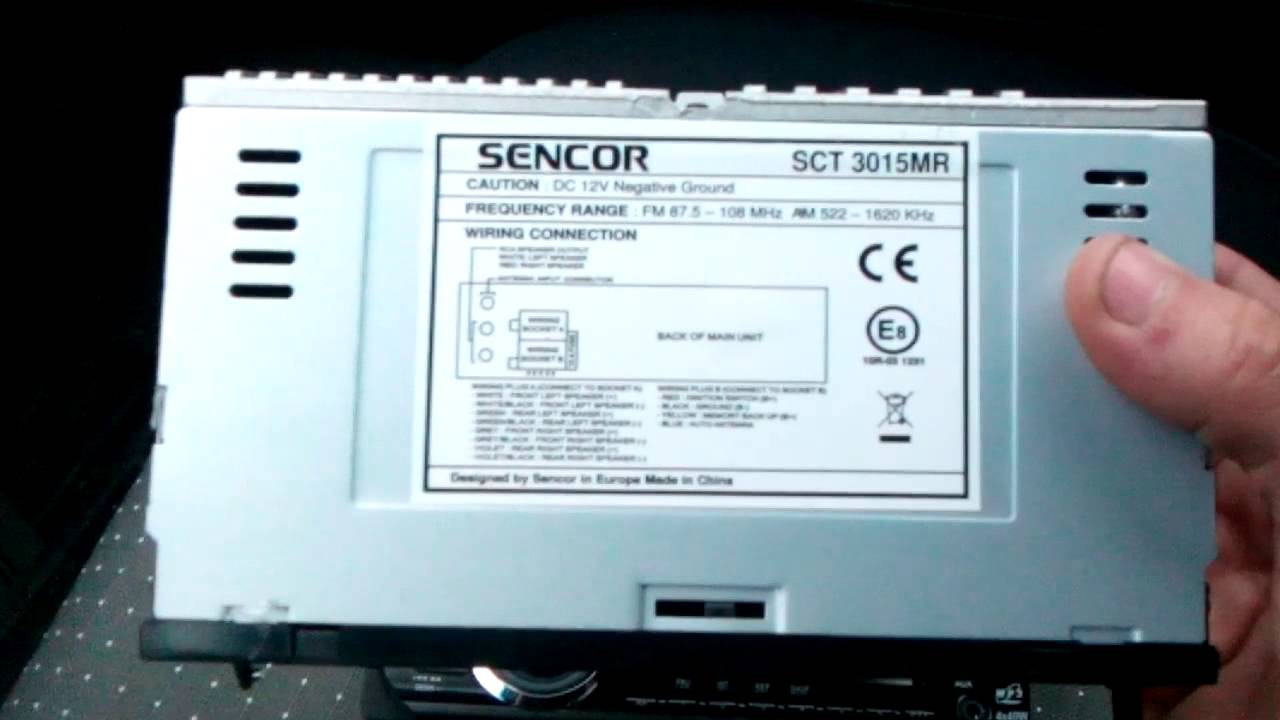 638eb3c47 Sencor SCT 3015 autorádio - YouTube