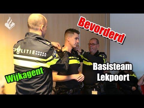 Politievlogger Jan-Willem, bloopers, bevorderd, wijkagent, Lekpoort 👮