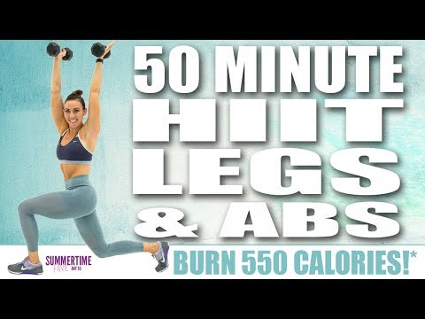 50 Minute HIIT Legs And Abs Workout 🔥Burn 550 Calories!* 🔥Sydney Cummings