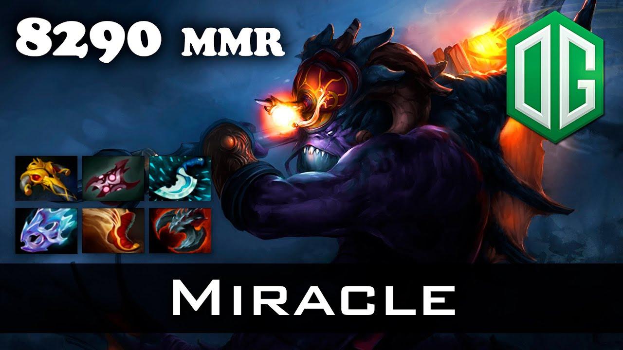 dota 2 miracle slardar 8290 mmr ranked match youtube