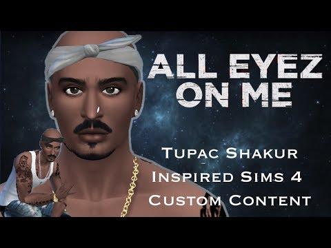 Sims 4 Custom Content Creator Showcase: Tupac Shakur Inspired CC!