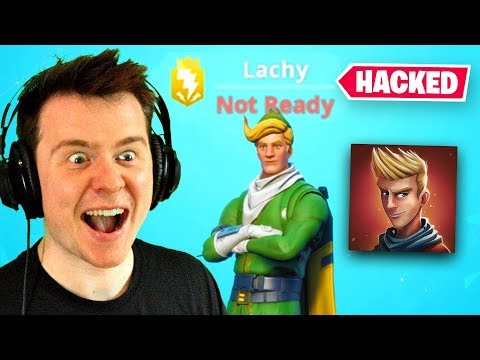 I HACKED LACHLANS FORTNITE ACCOUNT (He's Mad)