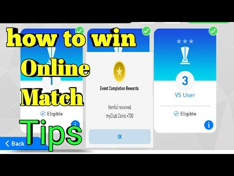 How to Win Online Match in PES 2018 MOBILE | Tips