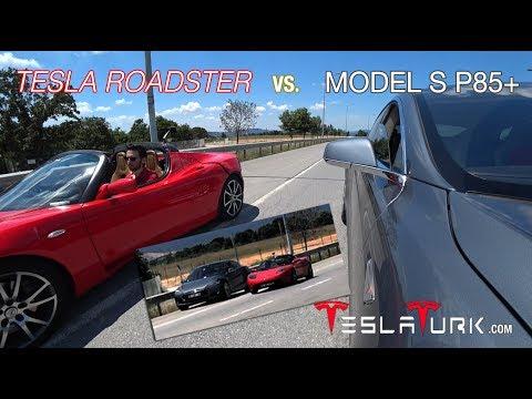 2010 Tesla Roadster vs. 2013 Model S P85+ [TeslaTurk]