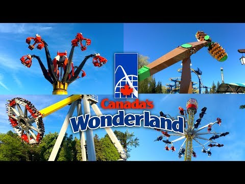 Top 10 BEST Flat Rides | Canada's Wonderland 2017 Theme Park