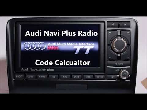 Audi Navi Plus Radio Code Calculator For Unlocking And Reworking