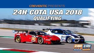 Hankook 24H COTA 2018 - Qualifying