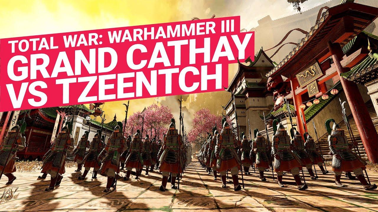 Grand Cathay vs Tzeentch Great Bastion Battle | Total War: WARHAMMER III