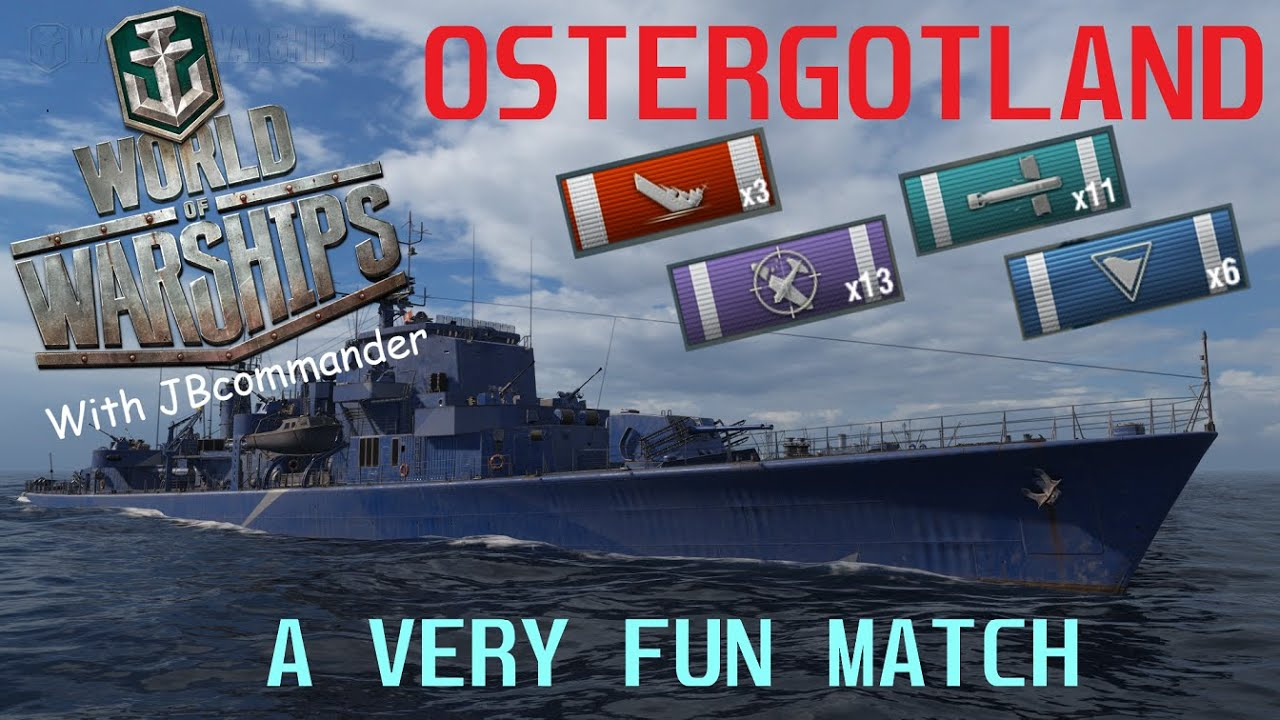 Wows Ostergotland Very Fun Match Youtube
