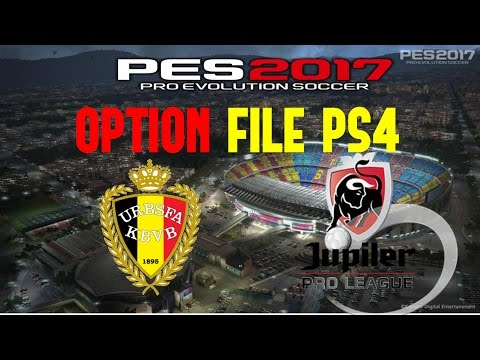 OPTIONS FILE PES 17 PS4 LIGA BELGA