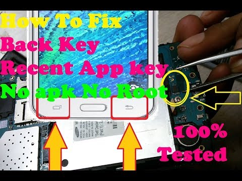 How To Fix Samsung BACK KEY RECENT APP KEY Not Working Solution 100% TESTED In Hardware.?