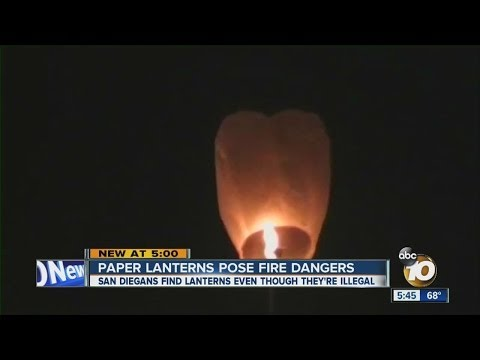 Paper Lanterns Pose Fire Dangers