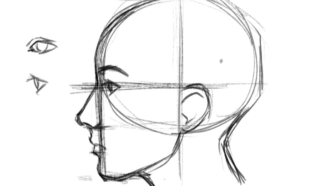 How To Draw A Face Profile Youtube
