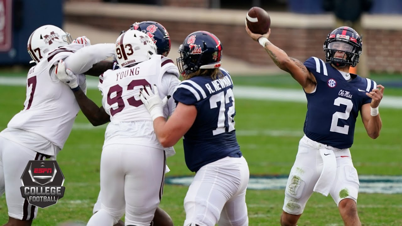 Mississippi State Bulldogs vs. Ole Miss Rebels   2020 Egg Bowl   College Football Highlights