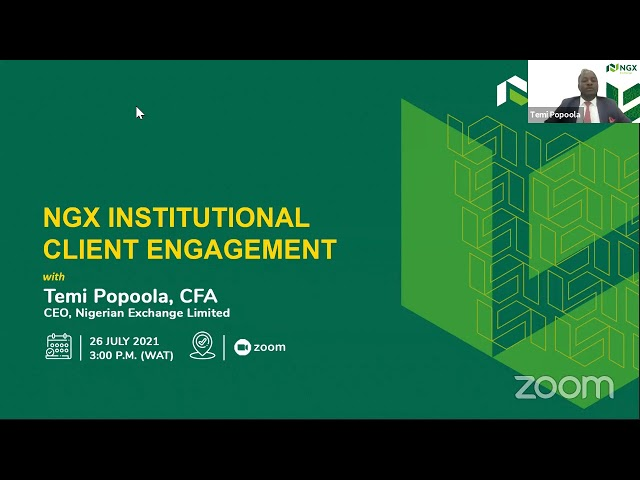 NGX INSTITUTIONAL CLIENT ENGAGEMENT