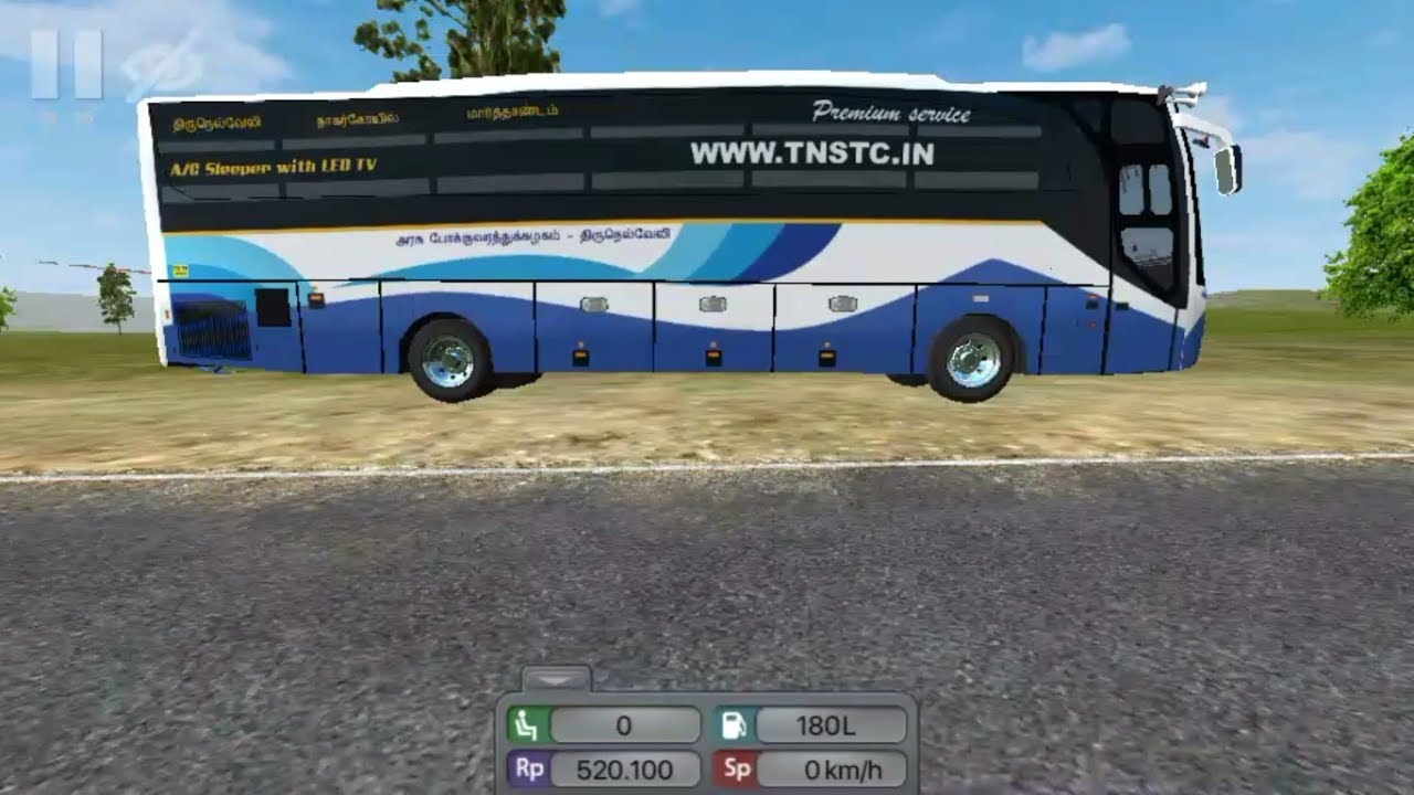 ✴️Tamilnadu Tirunelveli Depot New TNSTC Bus Livery in Android Game  BUSSID[PCR GAMEPLAY]Links⤵️