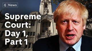 Supreme Court parliament suspension hearing: Day 1, part 1 | Brexit