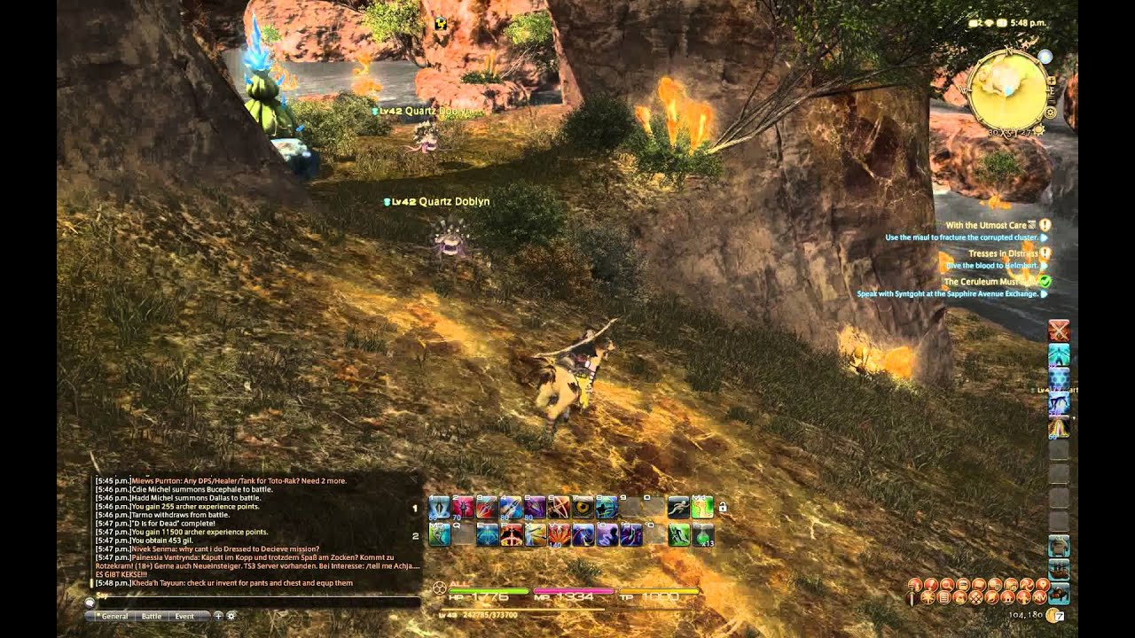 FFXIV:ARR - finding Corrupted Crystal for the quest