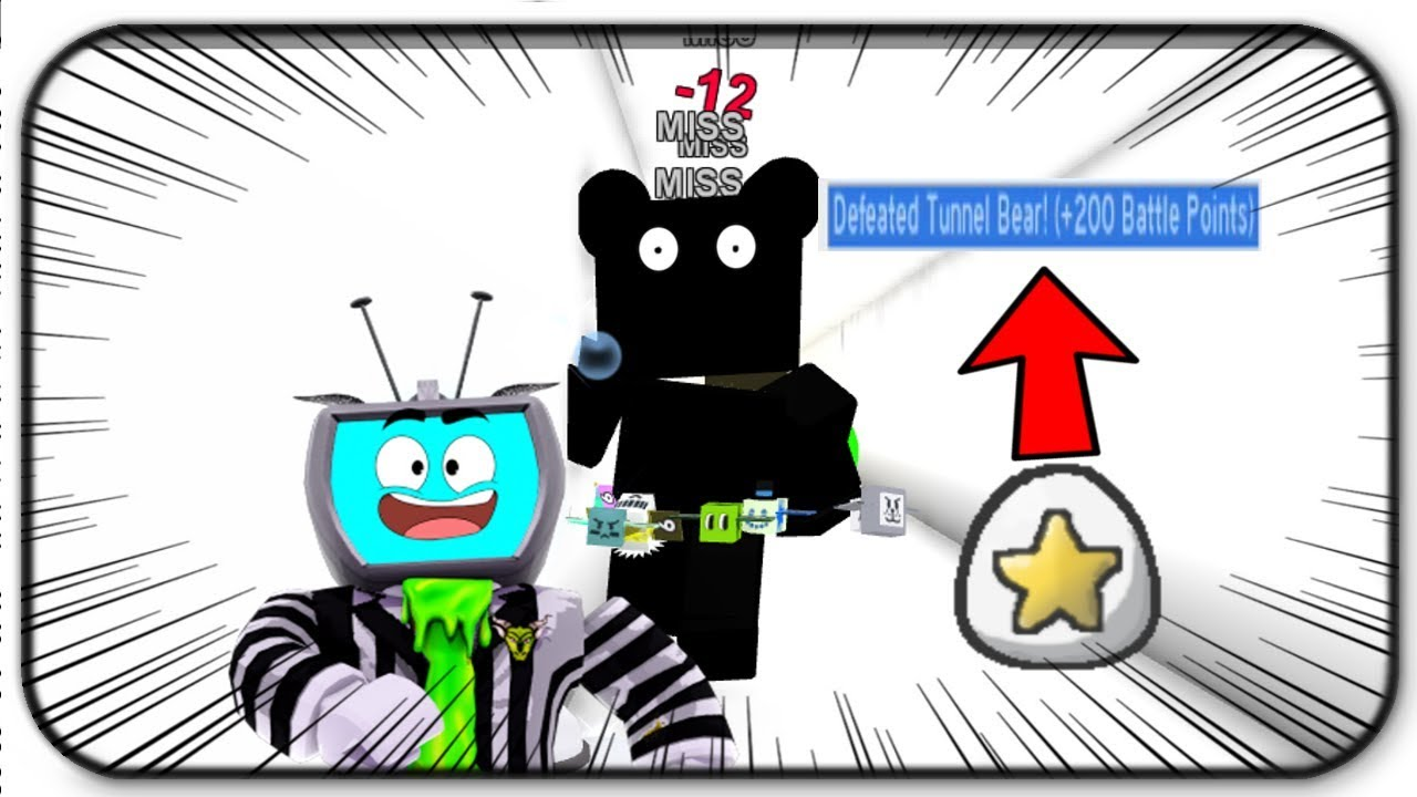 How To Beat Tunnel Bear -Tips And Tricks - Free Gifted Silver Star Egg In  Roblox Bee Swarm Simulator