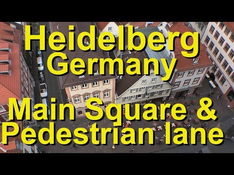 Heidelberg's Main Square and Pedestrian Lane, the Marktplatz and Hauptstrasse