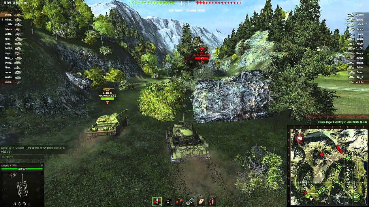 WOT Scout tanky dohazování
