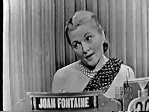 What's My Line?  Joan Fontaine Jan 17, 1954