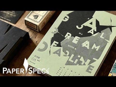 PaperSpecs.com | Paper Inspiration #338: Creative Manifesto Calendar 2018