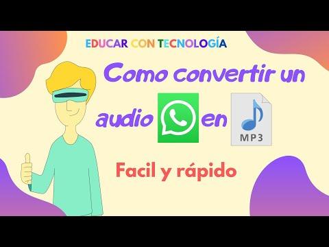 como convertir audios de whatsapp a mp3