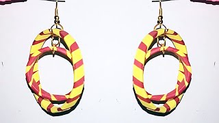 quilling papers earring - quilling earrings making weaving Ring Earrings