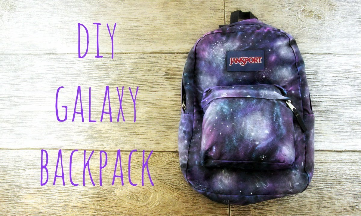 DIY Galaxy Backpack For Back To School - YouTube