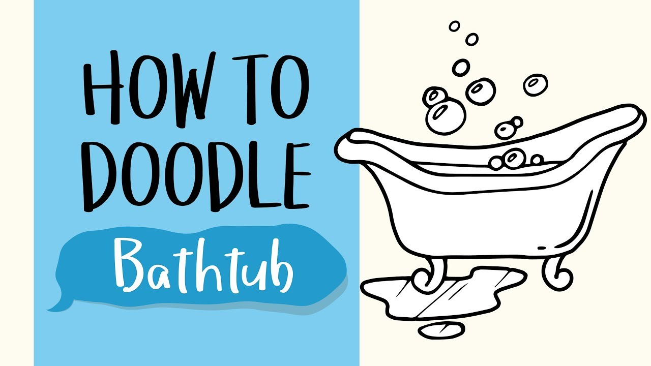 How To Draw A Bathtub Easy Step By Step Drawing And Coloring