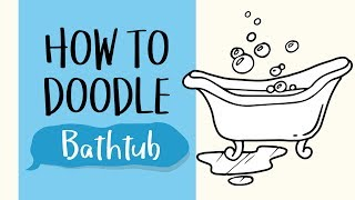 How to Draw a Bathtub (Easy Step by Step Drawing and Coloring Tutorial For Kids)