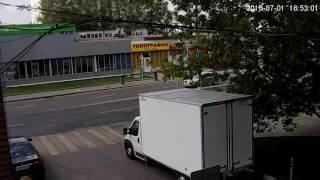 Видеозапись с уличной поворотной IP камеры Zodikam 314 (1.3 МП, 960P, Zoom 10X)