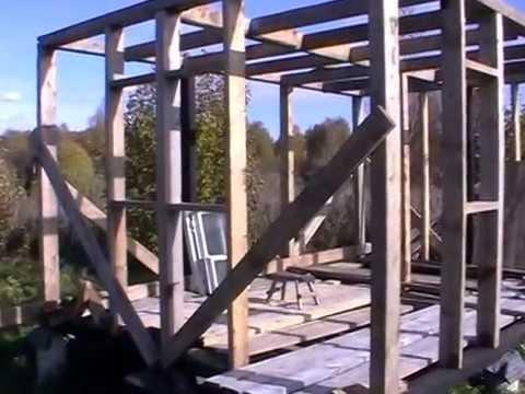 Бытовка-хозблок на даче своими руками: чертежи, как построить