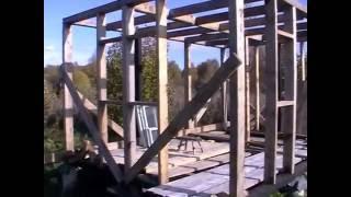 Как самому построить каркасный домик-бытовку/часть 5.(Строительство/каркасник/потолок Ссылка на первое видео о строительстве этой бытовки:https://www.youtube.com/watch?v=4QS57SWs..., 2016-10-02T15:13:24.000Z)