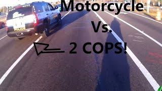 POLICE CHASE - Motorcycle Vs 2 Cops