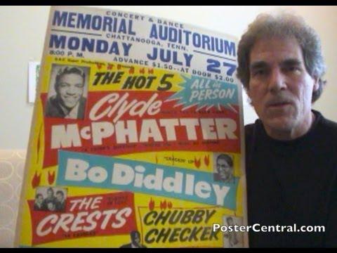 Eddie Cochran, Bo Diddley Concert Posters 1950s Rock 'N Roll