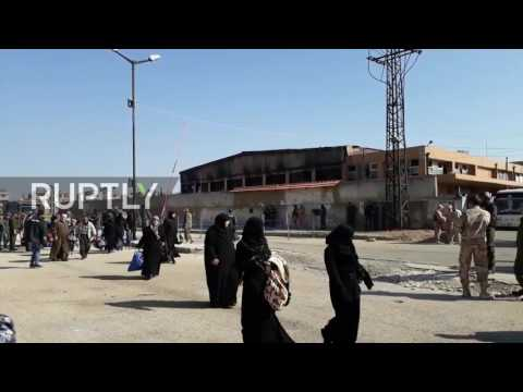 Syria: 170 anti-gov. fighters and families leave Homs as evacuation deal continues
