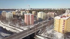 Relax with this smooth drone flight Toivoniemi-Patosilta, Oulu, Finland.